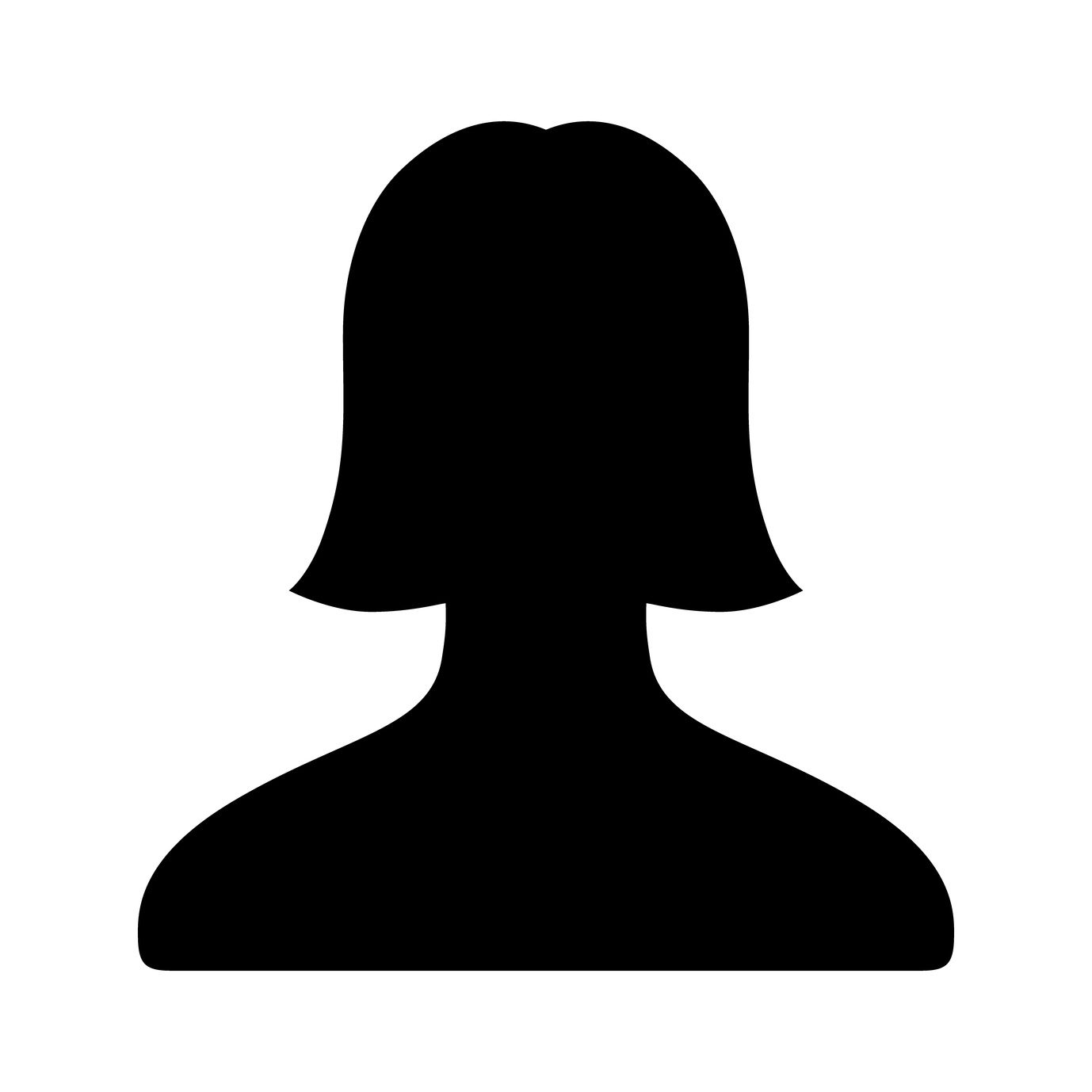 Female user account flat icon for apps and websites