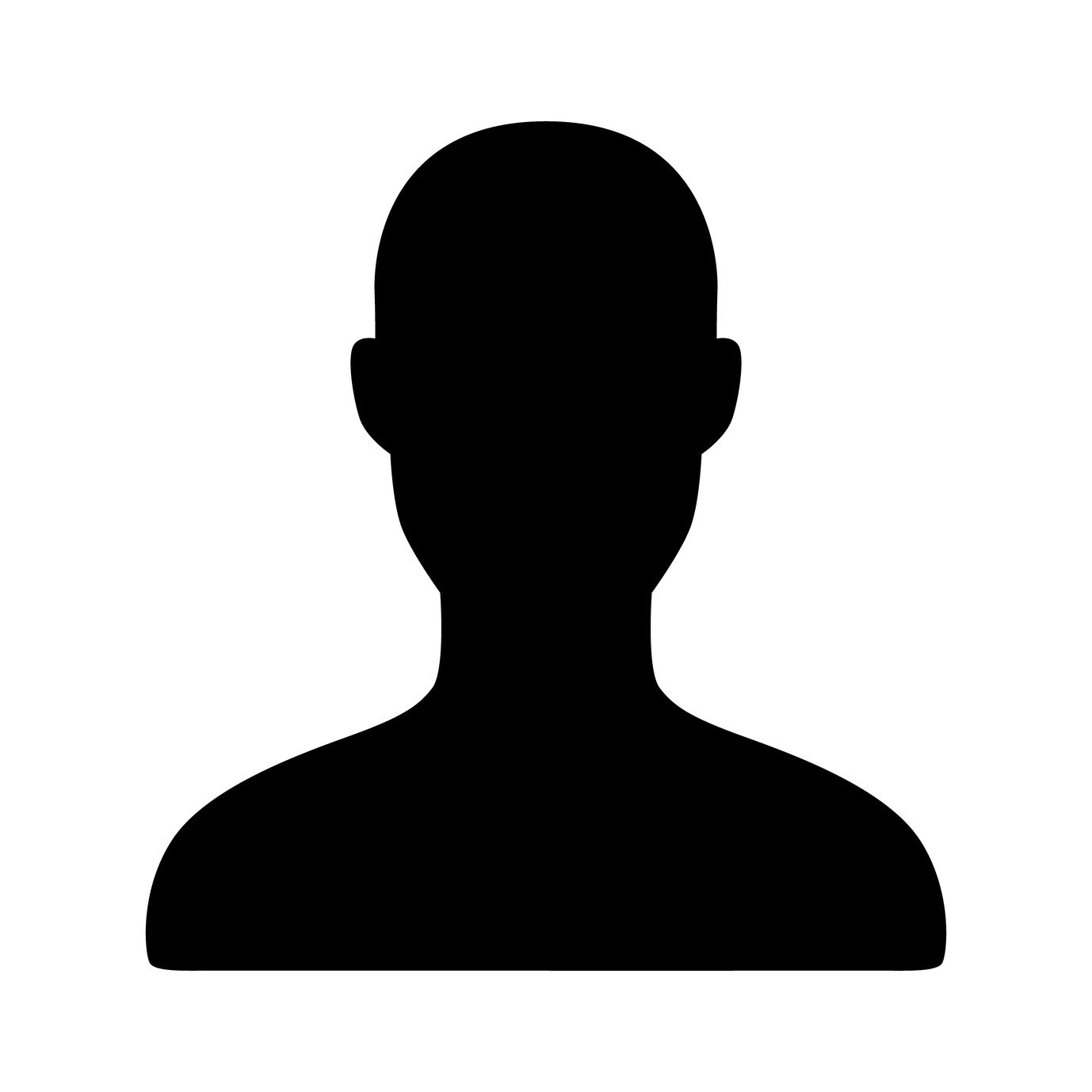 Male user account flat icon for apps and websites